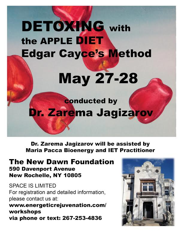 Cayce Apple Diet zarema jagarov may event