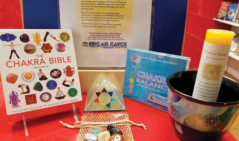 07 cayce book gift shop products chakra display