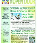 April-June 2017 Open Door Newsletter: Now for Blooming Membership Specials, Natural Remedies, a Past Life in pre-Revolutionary Boston – and more!