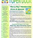 Apr-Jun 2018 Open Door Newsletter: Merry May Membership Specials & Gift in the new Open Door! Plus - Earth as a Healer; Gut Health; Sacred Spaces in NYC -- & more!