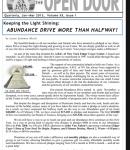 The Open Door Newsletter Reborn 2013